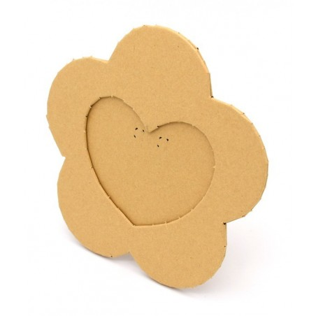 Portafoto di cartone a forma di cuore 10x10