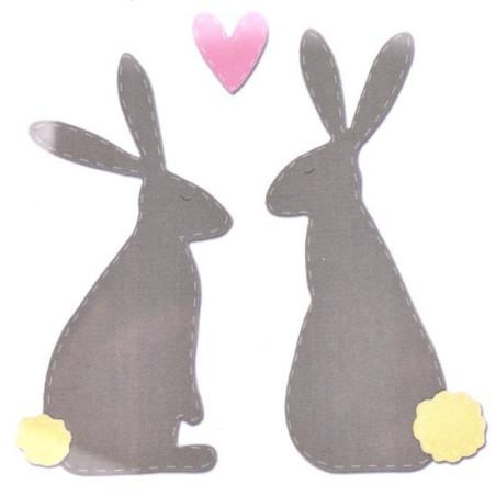Fustella sizzix bigz coniglietti