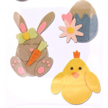 Fustella bigz L sizzix coniglio pulcino uovo