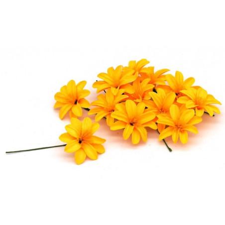 Fiore decorativo margherita gialla