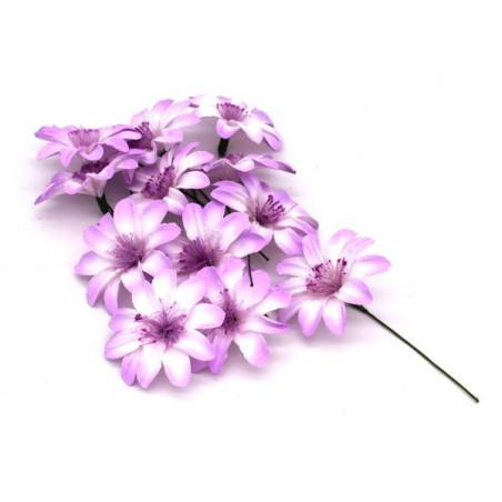 Fiori artificiali colore lilla e bianco