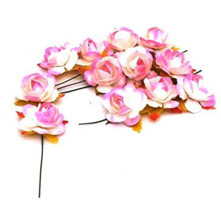 Fiore decorativo colore rosa e bianco