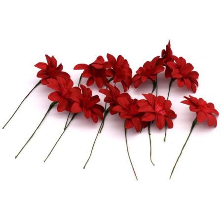 Fiori artificiali per decorazione colore rosso