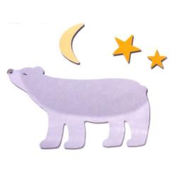 Fustella bigz orsetto con luna e stelle