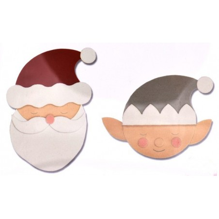 Fustella bigz babbo natale con elfo