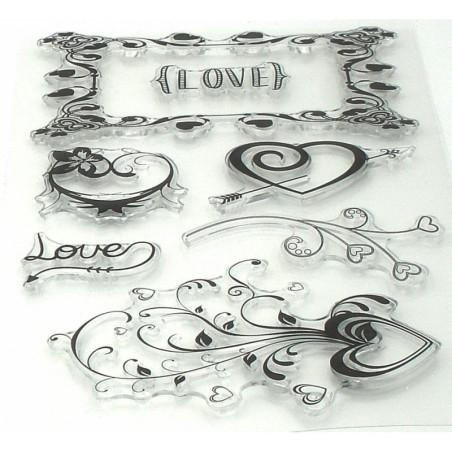 timbri in gomma vari soggetti scritta love