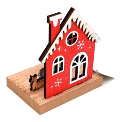 Portacandele natalizio casetta