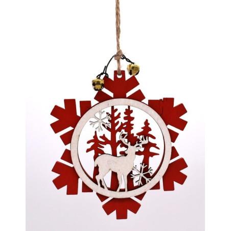 Decorazioni natalizie fiocco di neve rosso