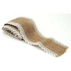 stoffa di lino con pizzo