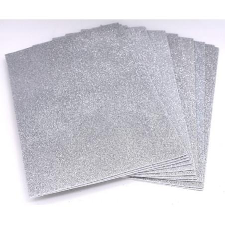 Gomma crepla glitter color argento