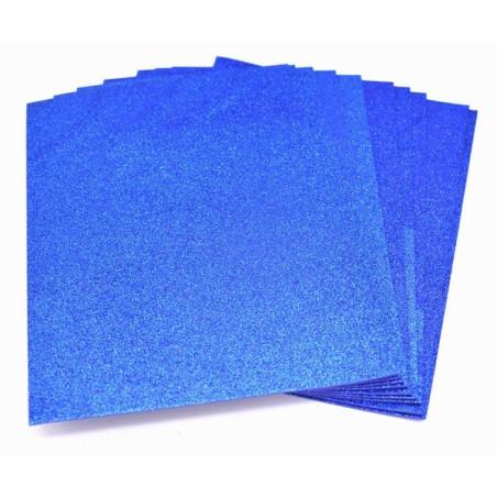 Gomma crepla glitter blu scuro