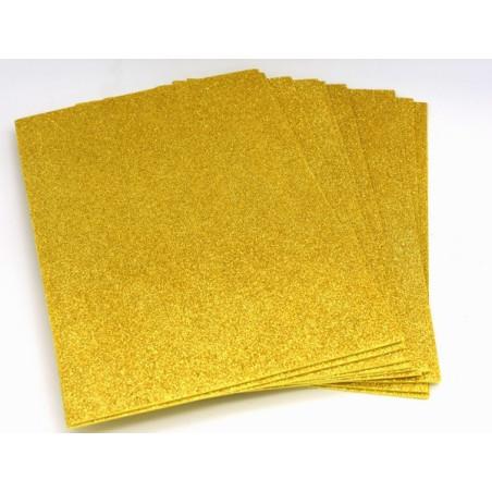 Gomma crepla glitter color oro