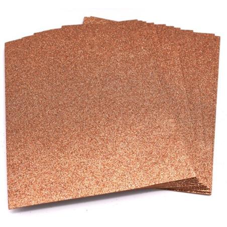 Gomma crepla glitter color marrone