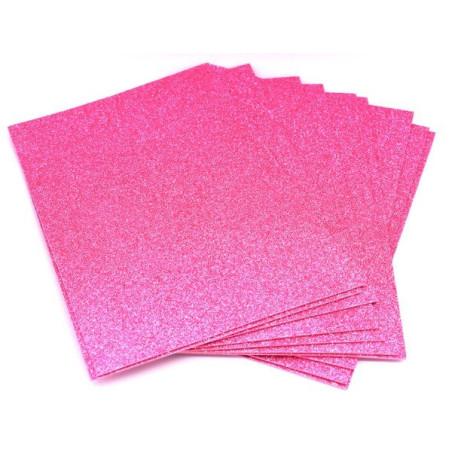 Gomma crepla glitter rosa