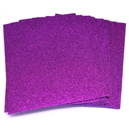 Gomma crepla glitter colore viola
