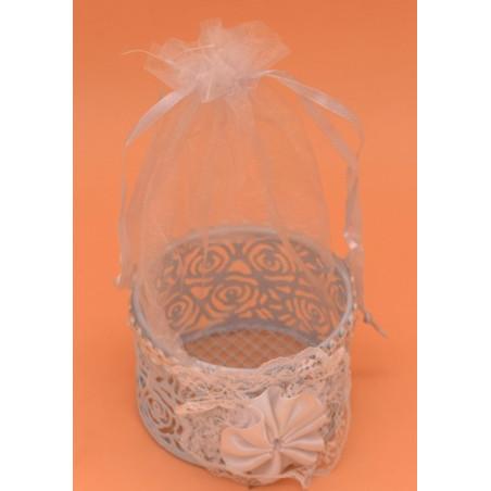 Bomboniera porta confetti con sacchetto di organza
