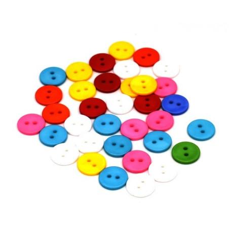 Bottoni colorati misti 35 pezzi