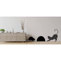Adesivi murali gatto topo e...