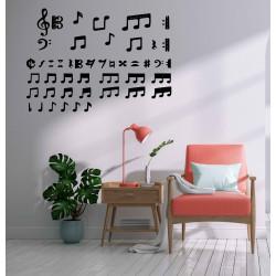 Adesivo murale note musicali