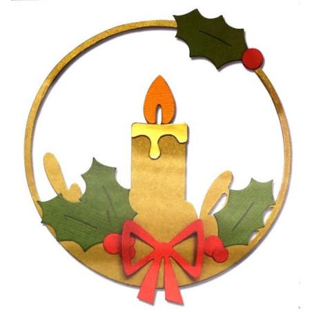 Fustella bigz sizzix cerchio con candela