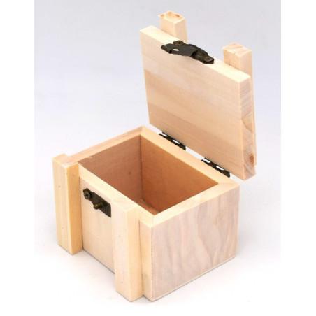 Bauletto in legno 7,5 x 5,5 x 5 cm