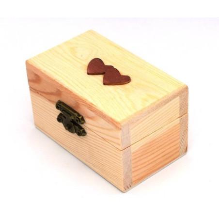 Scatola bauletto in legno con cuoricini