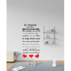 Regole della casa adesivo...