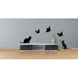 Adesivi murali gatti e...