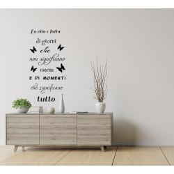 Adesivi murali frasi la vita