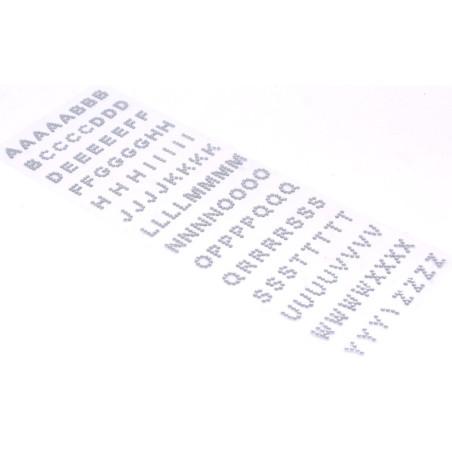 Brillantini adesivi per decorazioni alfabeto 2 mm
