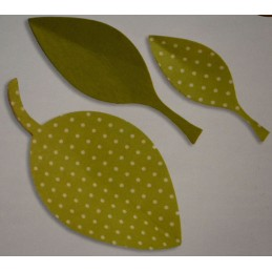 Set tre foglie in feltro