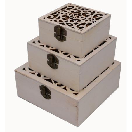 Scatole in legno per fare il decoupage