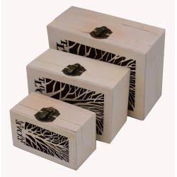 Scatole in legno per decoupage