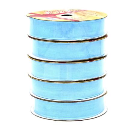Nastro di raso azzurro 15mm X 4,5mt