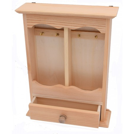 Portachiave in legno con cassettino
