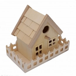 Casetta in legno per decoupage