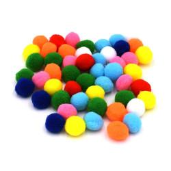 Pon pon colorati 1,5 cm