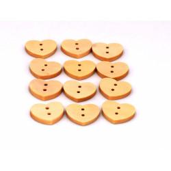 Bottoni in legno a forma di cuore
