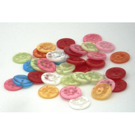 Bottoni colorati 1,5 cm