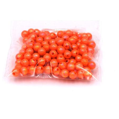 Perline color arancio 6 mm