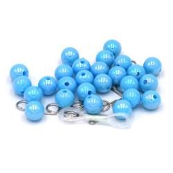 Perline azzurre 10 mm