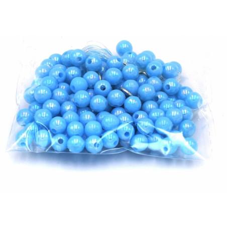 Perline di plastica azzurre