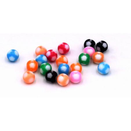 Perline in acrilico multicolor