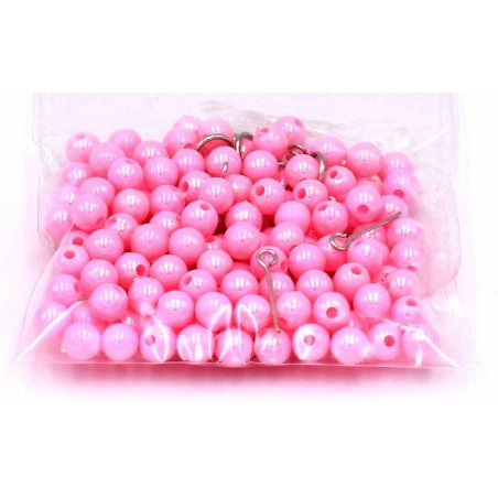 Perline in plastica color rosa