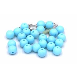 Perline azzurre plastica