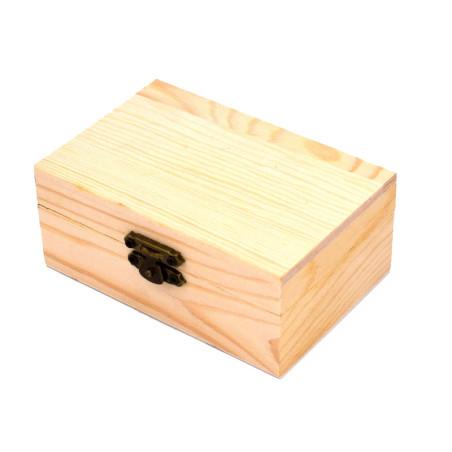 Bauletto scatola legno per decoupage