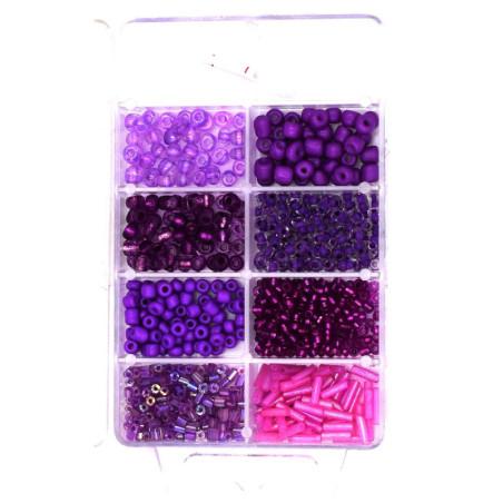 Mini perline per le decorazioni vari colori e misure