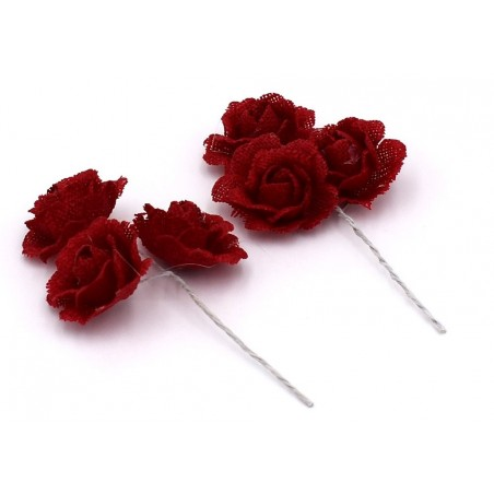Decorazioni fiore con bastoncino colore rosso