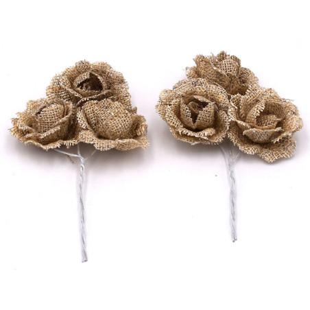 Fiore per decorazioni con bastoncino