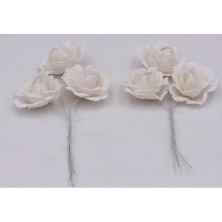 Fiore decorativo per bomboniere colore bianco